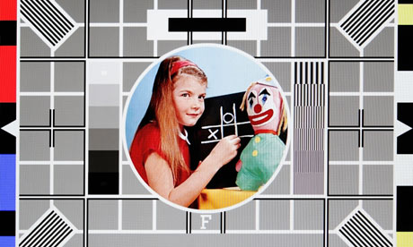 BBC test card, girl with clown