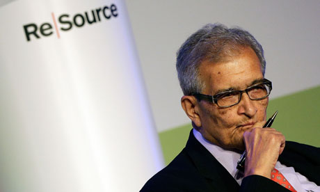 Nobel prize-winning economist Amartya Sen at the Resource 2012 conference in Oxford