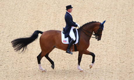 Rafalca, ridden by Jan Ebeling of the US in the Dressage Grand Prix