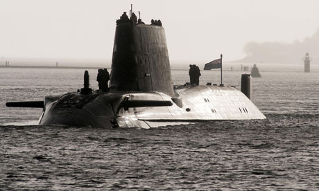 HMS Astute, first of the class of nuclear hunter killer submarine built at Barrow in Furness