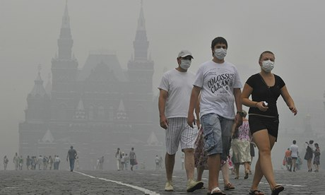 Russians duing the 2012 heatwave