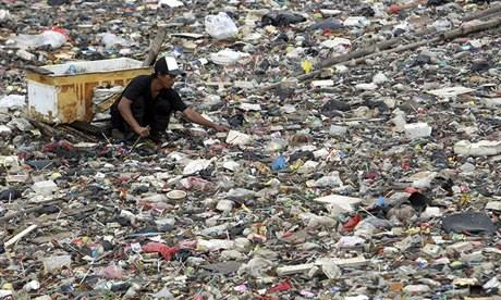 Polluted river Indonesia