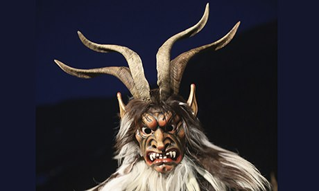 A man dressed as Krampus in Austria … pretty scary, huh?