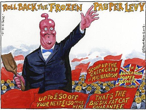 Steve Bell cartoon 3.12.2013