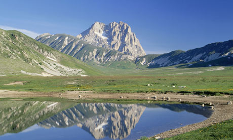 Gran Sasso massif, Italy, home to a particle physics laboratory