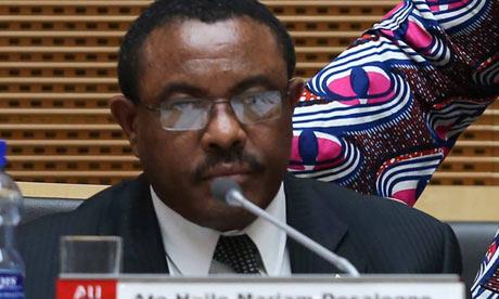 Hailemariam Desalegn, prime minister of Ethiopia.