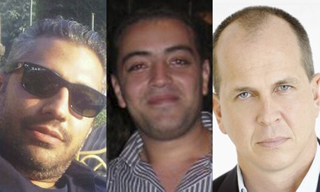 Arrested al-Jazeera journalists