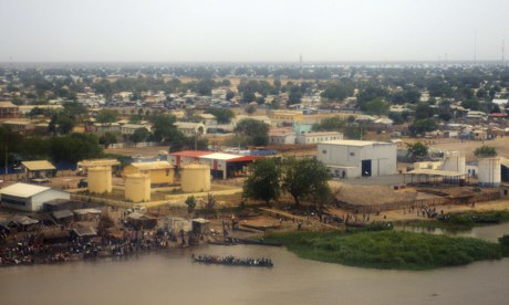 Aerial view of in Malakal