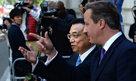 Chinese premier Li Keqiang and David Cameron