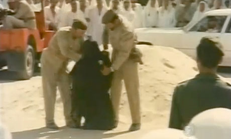 A Saudi princess before her beheading in a scene from drama-documentary Death of a Princess