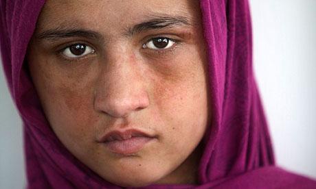Sahar Gul, 14, at a women's shelter in Kabul.