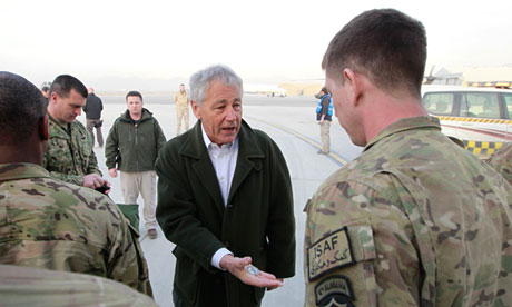 Chuck Hagel in Afghanistan