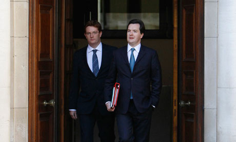 Chancellor George Osborne and chief secretary to the Treasury, Danny Alexander