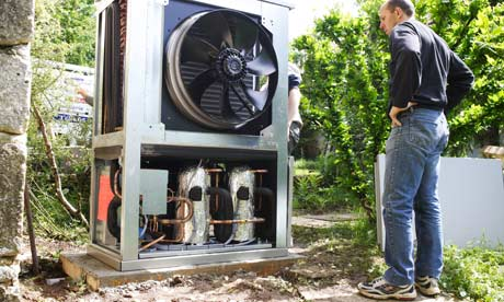 Heat pumps harvest renewable ambient heat to generate hot water and space heating.