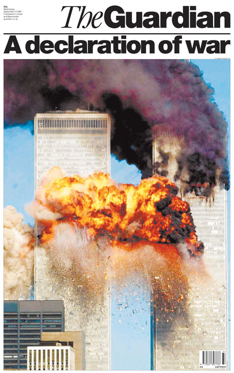 9/11 archive front page