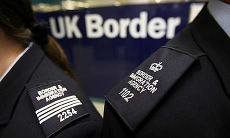 Immigration officers at Gatwick airport