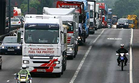 Fuel protesters on the A2 in Kent