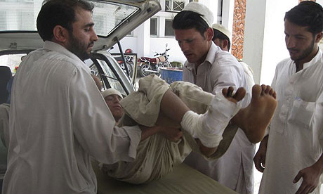 Afghan boy injured in US air strike