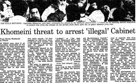 Iranian Revolution, 30 years: Khomeini threat...