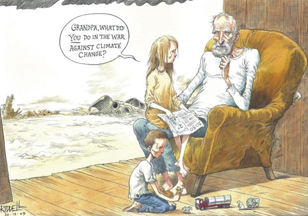 Chris Riddell cartoon, December 20, 2009, The Observer