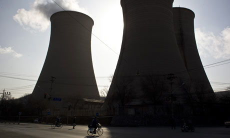 Cooling towers of a coal-fired power plant in Beijing, China