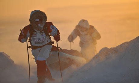 Members of the Catlin Arctic Survey battle the elements in the name of science, and their own survival.