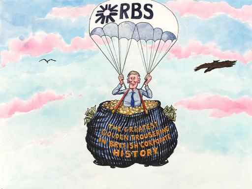 RBS pension scandal,cartoon by Steve Bell