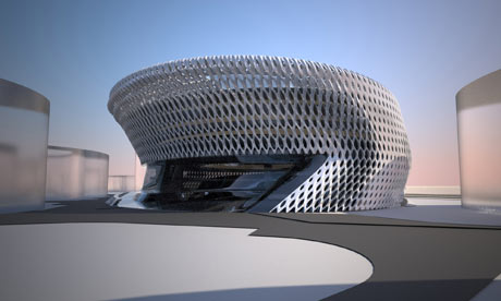 Rendering of Zaha Hadids design for Campus of Justice in Madrid