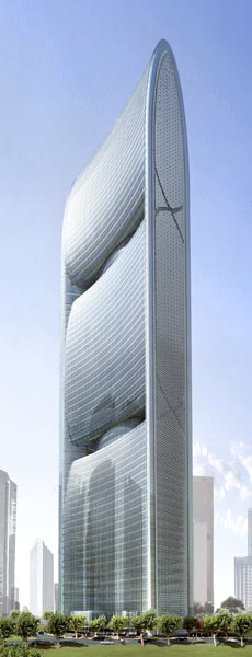 Pearl River Tower in Guangzhou, China