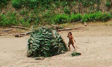 A Mashco-Piro woman In Perus Amazon region