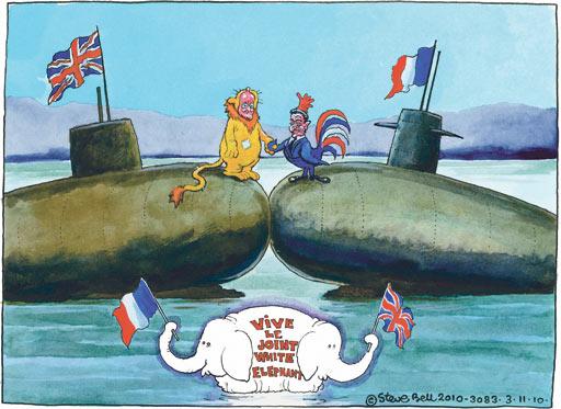 03.11.2010 Steve Bell cartoon