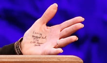 Sarah Palin's notes at the Tea Party convention