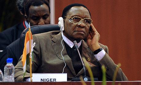 Niger's president, Mamadou Tandja