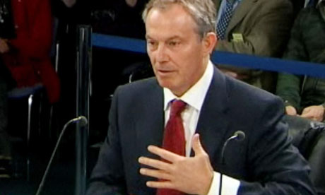 Tony Blair at the Chilcot Iraq inquiry