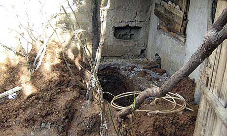The hole where a 16-year-old girl was buried alive by her relatives in Adiyaman, southeastern Turkey