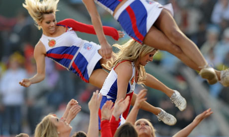 Royal Bangalore Challenger cheerleaders in the IPL, 2009.
