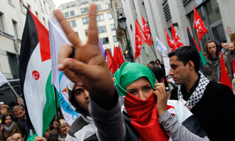 Brussels protest at Israeli flotilla attack
