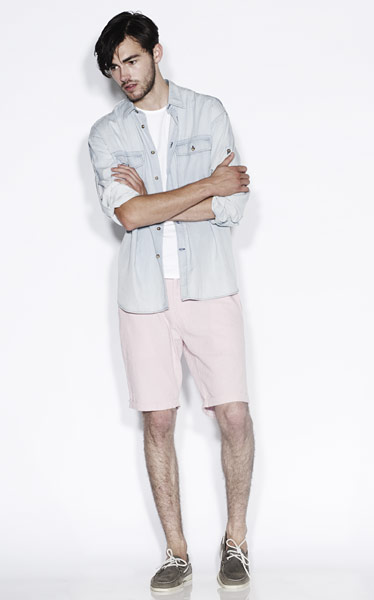line-up: shorts: Denim shirt and shorts