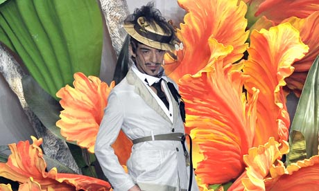Cutting a dash: John Galliano.