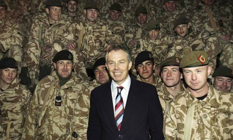 Tony Blair Meets With British Troops in Basra 2006