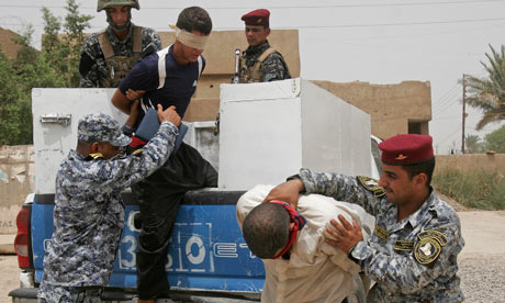Iraqi police arrest two suspects in Baghdad on Friday