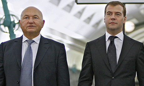 Yuri Luzhkov and Dmitry Medvedev