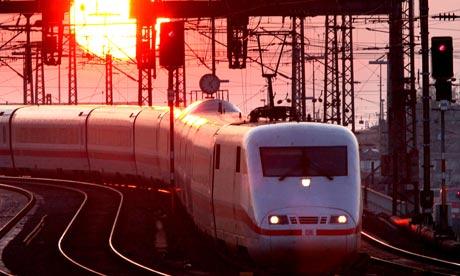 ICE train in Frankfurt