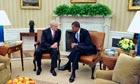Barack Obama (right) meets Israeli prime minister Binyamin Netanyahu