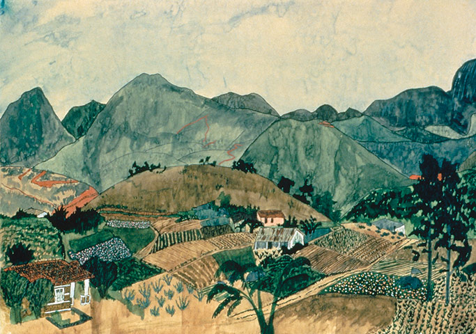 Exchanging Hats book: Brazilian Landscape, a painting by Elizabeth Bishop