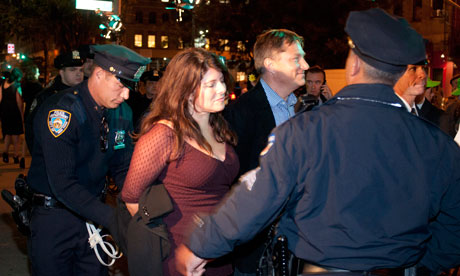 Naomi Wolf is arrested during the Occupy Wall Street protest