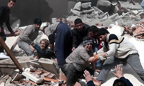 Van earthquake in Turkey