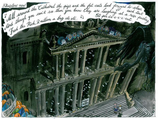 29.10.11: Martin Rowson on the Occupy encampment at St Paul's Cathedral