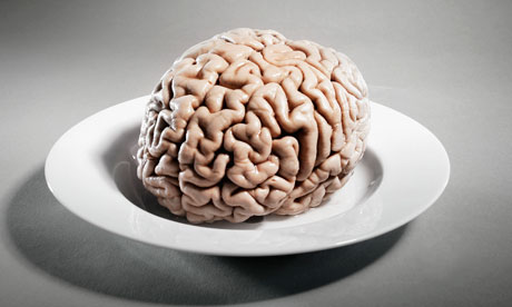 Human brain on a plate