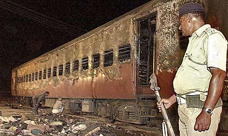 Den utbrente togvogna der 69 mennesker mistet livet